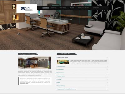 office interior designer website development company