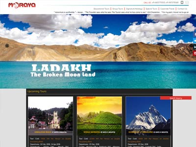 tours & travels company website designing