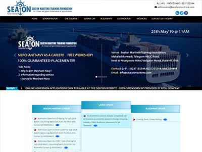 ship industy website designing in mumbai